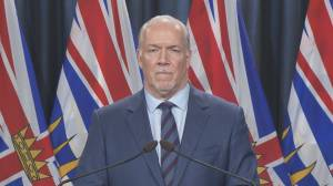 Premier John Horgan says continuing the Site C dam project 'is in the best interest of British Columbians' (03:36)