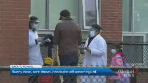 Province updates COVID-19 screening tool for students, children in daycare (02:33)
