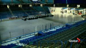Eerily quiet at SaskTel Centre