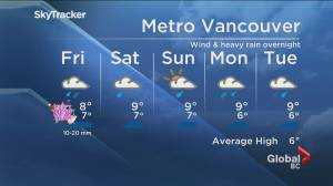 B.C. evening weather forecast: Dec. 31 (02:00)