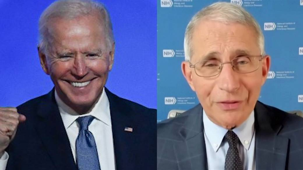 Click to play video 'Coronavirus: Dr. Fauci says he's not advising Biden, will stay in current role'