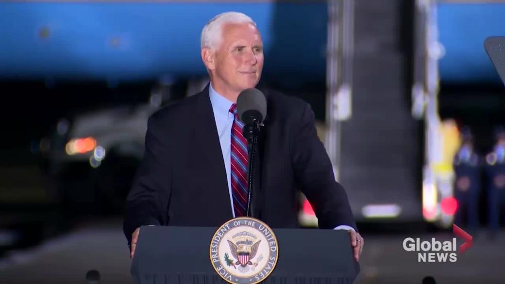Click to play video 'Pence predicts Judge Amy Coney Barrett will be elected to SCOTUS in Senate'