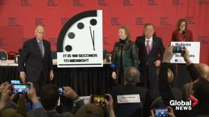 One hundred seconds to midnight: Doomsday Clock moves forward 20 seconds