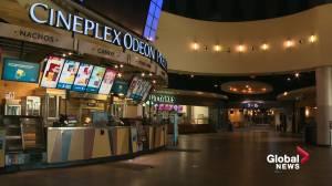 Cineplex theatres to reopen across Alberta June 10 (01:23)
