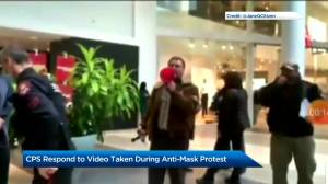 Video shows Calgary officer shaking hands with anti-mask protestor (00:48)