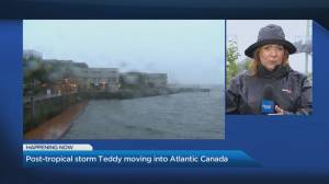 Post-tropical storm Teddy moving into Atlantic Canada (02:23)
