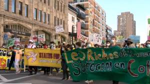 Protesters demand climate action in Montreal (01:46)
