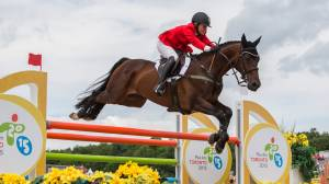 Jessica Phoenix and her trusted steed ready to take on Tokyo Olympics (02:11)