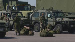Federal government approves military to help out in Toronto field hospitals (02:10)
