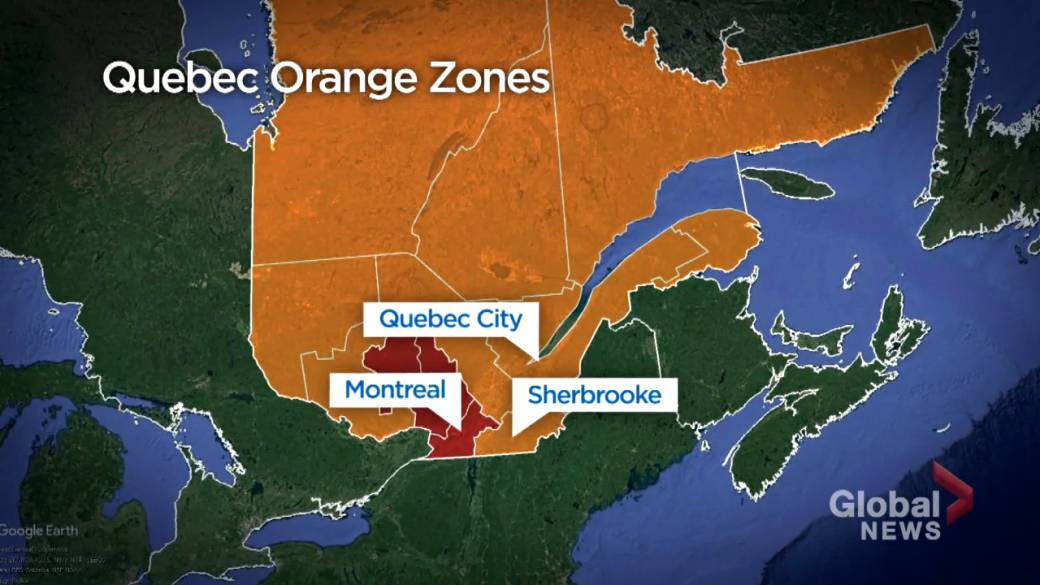 Click to play video 'COVID-19: Quebec returns to zone orange'