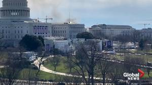 U.S. Capitol briefly shut down after fire breaks out at nearby homeless encampment (00:30)