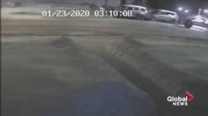 Grader hitting vehicles in southeast Edmonton caught on video