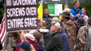 Coronavirus outbreak: Hundreds protest stay-at-home orders at 'American Patriot' rally in Michigan