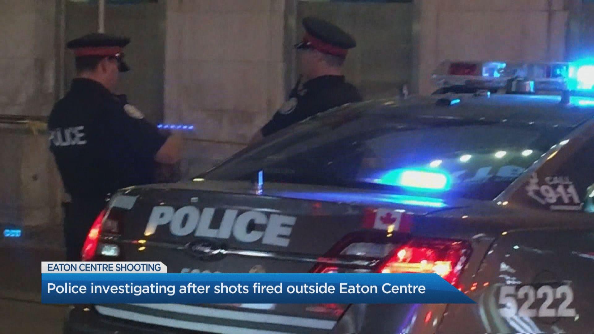 Shots fired outside Toronto's Eaton Centre