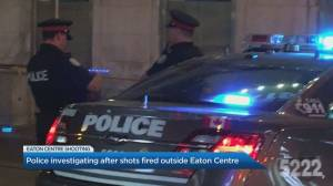 Shots fired outside Toronto's Eaton Centre