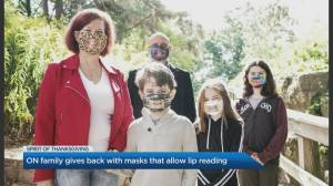 Ontario family gives back with lip reading masks (04:37)