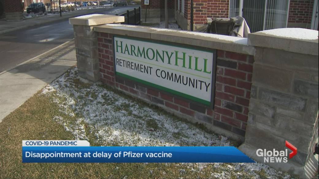 Click to play video 'Coronavirus: Ontario government commits to vaccinating all long-term care workers, residents by Feb. 15 despite vaccine shortage'