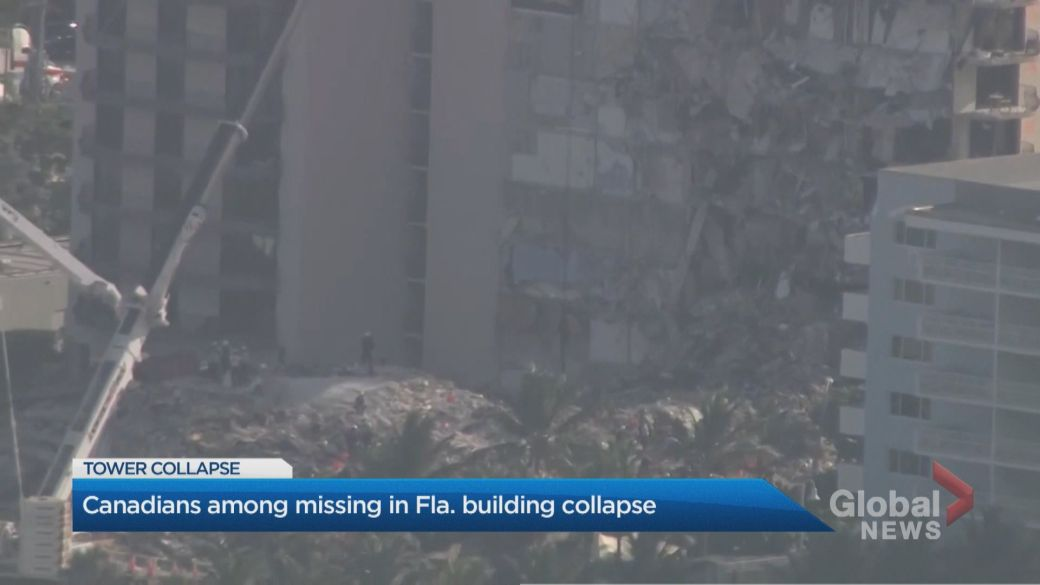 Click to play video: '4 Canadians among the missing following the Florida condo collapse'