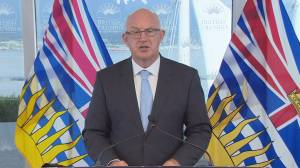 B.C. public safety minister thanks firefighters helping fire-affected communities (03:03)