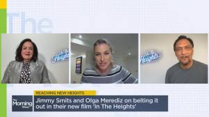 Jimmy Smits and Olga Merediz speak about their experience on set for the hotly anticipated 'In The Heights' (01:17)