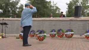 Ceremony honours Canada's fallen peacekeepers (01:42)