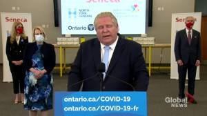 Ford says high-risk essential workers get priority as Ontario's Phase 2 COVID-19 vaccine rollout begins (01:28)