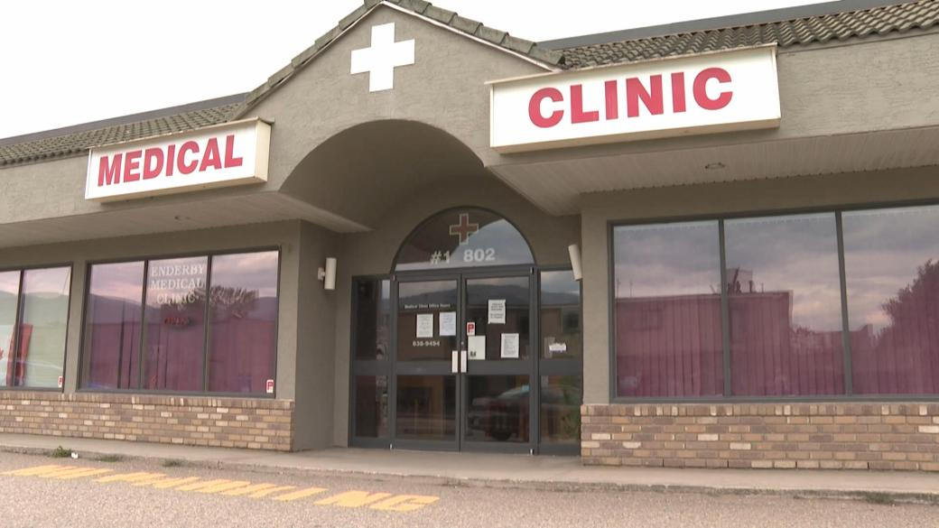 Click to play video: 'Unvaccinated patients turned away from Enderby clinic'
