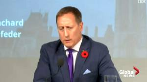 Peter MacKay takes election swipe at Andrew Scheer: 'breakaway on an open net and missing the net' (01:03)