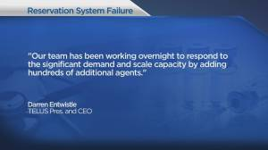 Telus issues apology for issues with B.C. COVID-19 vaccination centre phone lines (01:50)