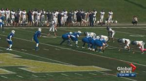 Ross Sheppard High School takes on Harry Ainlay High School in football action (01:09)