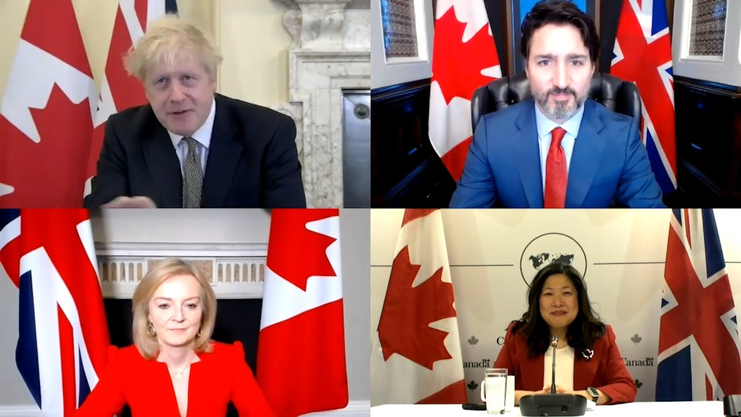 Click to play video 'Trudeau, Johnson announce Canada-UK trade deal ahead of Brexit deadline'