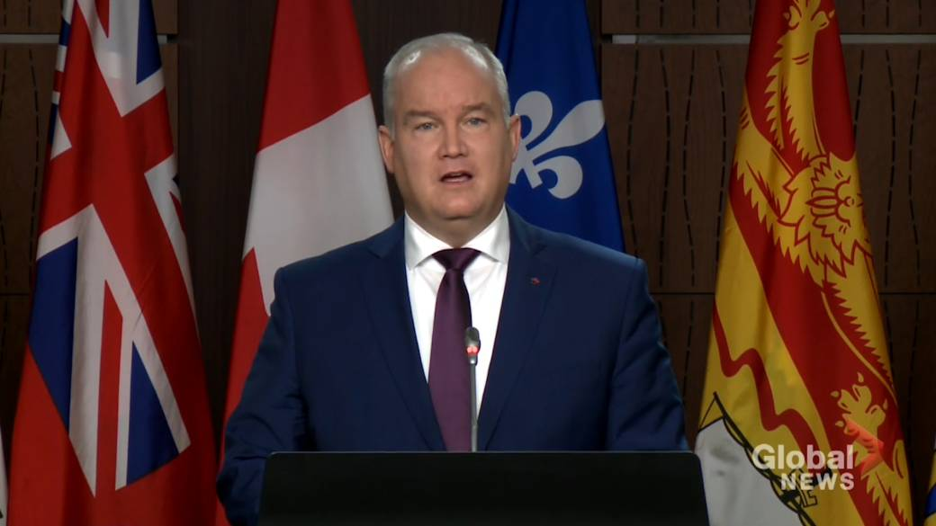 Click to play video 'Coronavirus: O'Toole blames 'secrecy and incompetence' of Trudeau government for vaccine delay'