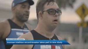 'Ironman' record-breaker takes part in new Down syndrome study (04:47)