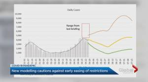 Ontario COVID-19 modelling cautions against early easing of restrictions (02:02)