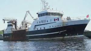 Crew rescued from sinking fishing vessel off Nova Scotia (02:08)