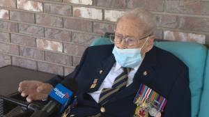 Second World War veteran condemns 'freedom rallies' (02:02)