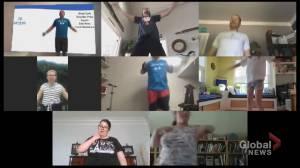 Toronto teen with rare genetic disorder training athletes online (03:03)