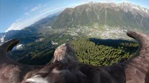 Eagle's eye view of the Alps raises awareness of climate change