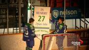 Play video: Melfort Mustangs honour 18-year-old defenceman Dylan Ashe