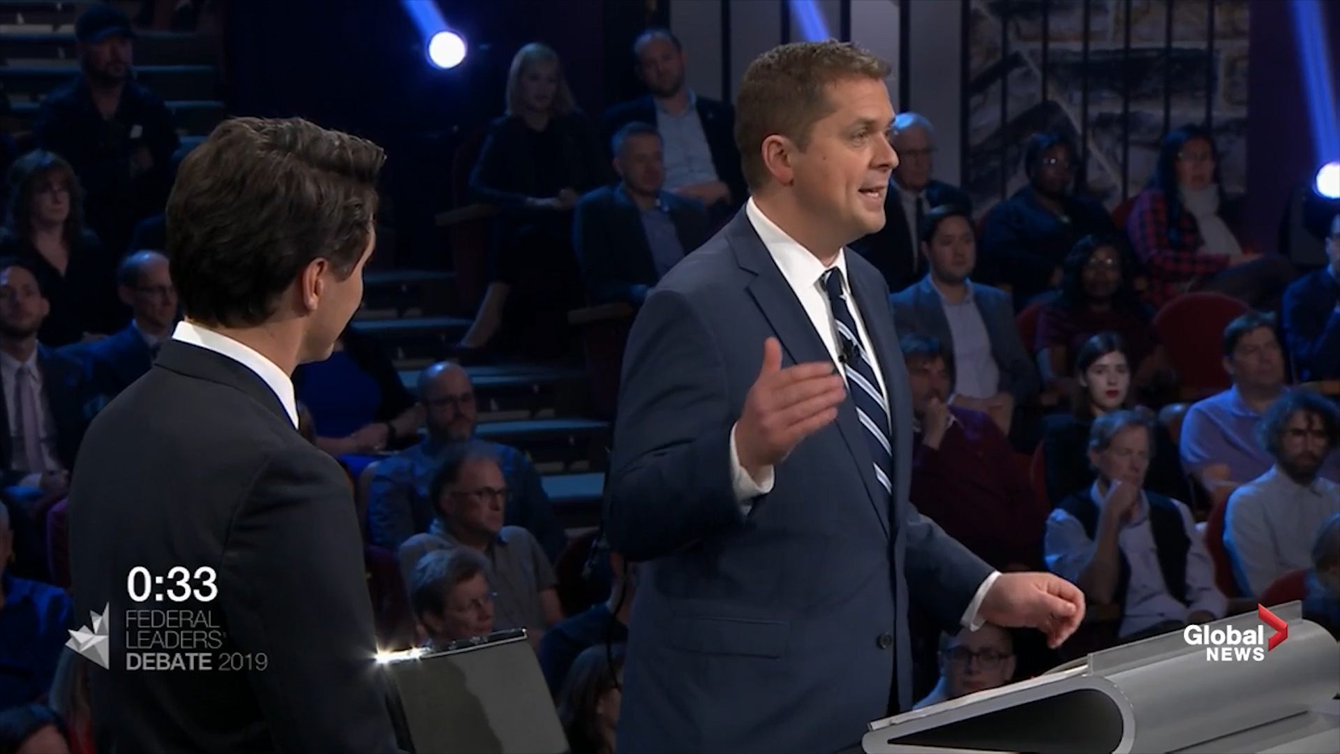 Leaders' Debate: Scheer attacks Trudeau campaign's use of two planes