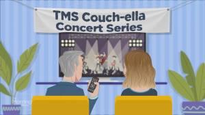 Couch-ella: David Cook performs