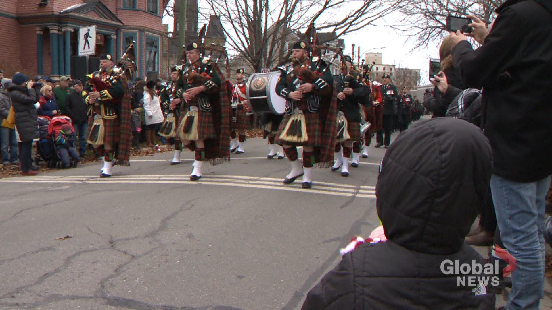Hundreds of people gathered in Fredericton to mark Remembrance Day