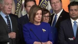Pelosi comments on 'coincidence' of CUSMA announcement with unveiled articles of impeachment