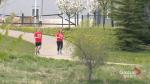 COVID-19 forces Calgary-area couple to alter plans for half-marathon milestone