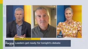 Federal Leaders square off in French language debate tonight (04:34)