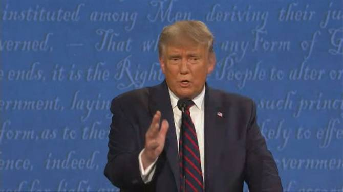 Click to play video: US Presidential debate: Biden presses Trump to release his tax returns after Trump claims he's paid 'millions'