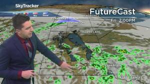 Chance of thundershowers: May 13 Manitoba weather outlook (01:38)