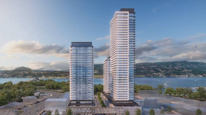 Click to play video: Three high rises approved for Kelowna's Leon Avenue