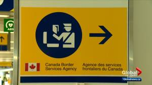 Travellers bracing for delays as Canadian border service agents ready for job action (02:34)