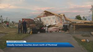 Cleanup underway following deadly tornado outside Montreal (03:09)